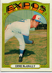 1972 Topps Baseball Cards      058      Ernie McAnally
